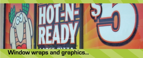window wraps and graphics