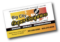 Big City Supergraphics: since 1981 – the place to find sign painters, muralists, painted signs, and school spirit graphics
